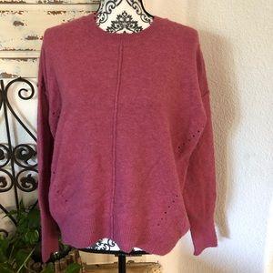 Topshop raspberry knit sweater